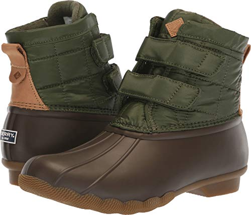 SPERRY Women's Saltwater Jetty Snow Boot, Green, 7 M US (Sperry Snow Boots)
