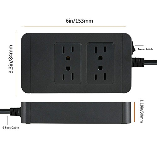 low-cost Multiple Power Strip, INNLIFE 4 Outlets 4 USB Ports Charging station with 1700J Surge Protector Multi Power USB Charger with 6ft Extension Cord for Smartphones Tablets Home Appliance Office Kitchen