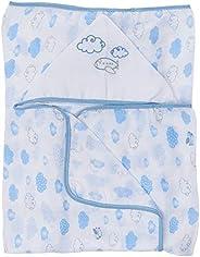 Toalha De Fralda Papi Soft Estampada Com Capuz Bordado 1, 10M X 90Cm – 01 Un, Papi Textil, Azul