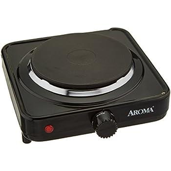 Superbe Aroma Housewares AHP 303/CHP 303 Single Hot Plate, Black