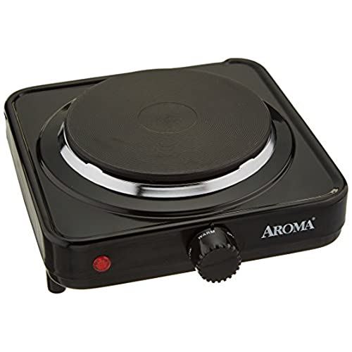 Aroma Housewares AHP 303/CHP 303 Single Hot Plate, Black
