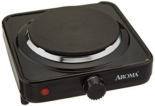 Aroma Housewares AHP-303/CHP-303 Single Hot Plate, Black by Aroma Housewares