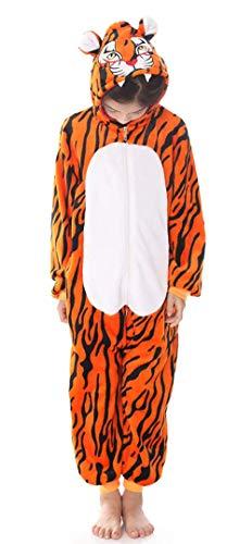 Unisex Children Tiger Pyjamas Halloween Onesie Costume 140# Height(51-56 inch)