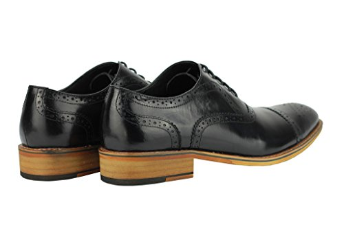 chiaro Brogue oxford Cuoio Hole Xposed Scarpe uomini up Marrone Lace intelligenti degli Punch classico genuino di wqp1gB