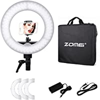 ZOMEi Ring Light Dimmable for Camera 12 inches Outer 35W 180 Pieces LED SMD Ring Light 5500K