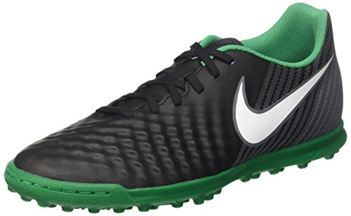 Nike Magistax Ola II TF, Zapatillas de Fútbol para Hombre Multicolor (Black/Whitecool Greystadium Green)