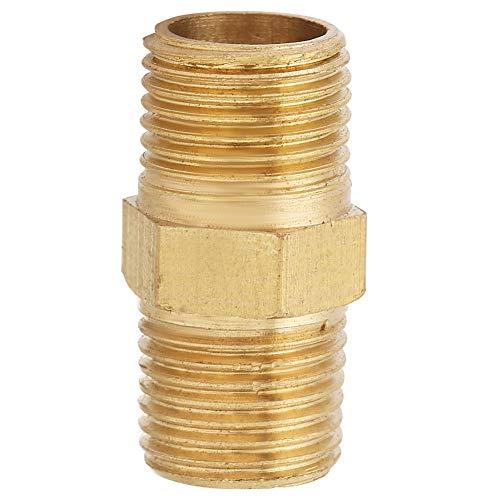 (FTVOGUE Brass Pipe Hex Nipple Fuel Wire Connector Oil Separator Bridge M8/M10(M101))