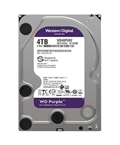 WD Purple 4TB Surveillance Hard Drive 5400 RPM Class