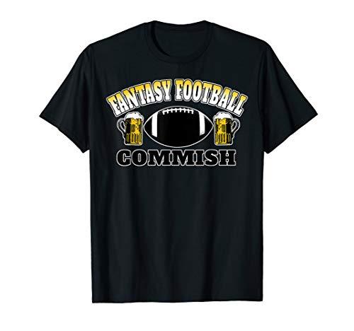 Fantasy Football Commish  2019 Beer Season Draft Dictator T-Shirt (Best Footballers Of 2019)