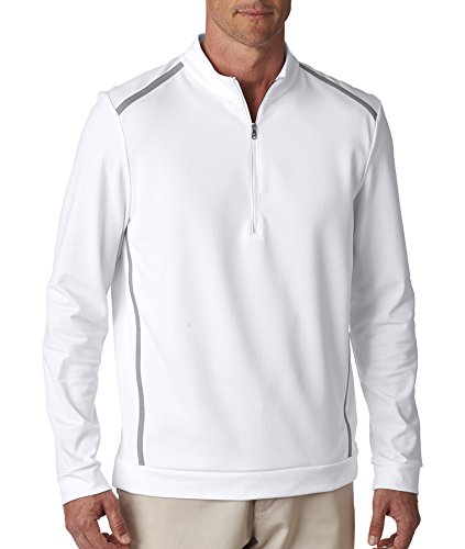 Adidas Golf Mens Half-Zip Training Top A277 -WHITE/ MID G L