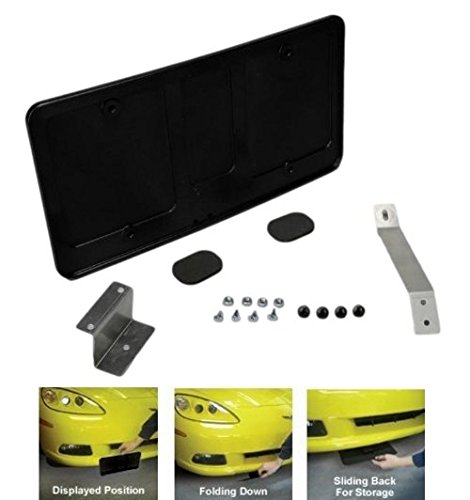 - 2006-2013 Corvette Z06 & Grand Sport Retractable Hand Operated License Plate Frame
