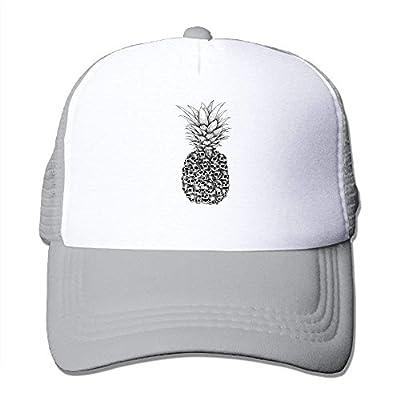 cxms Skull Pineapple Adjustable Snapback Baseball Cap Mesh Trucker Hat from cxms