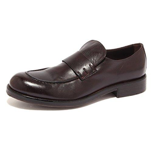 0584S mocassino uomo HUNDRED 100 marrone vintage brown shoe men testa di moro