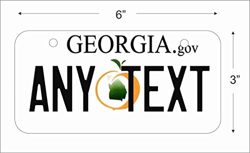 a Novelty License Plate for Auto, Mini License Plate For Bicycles, Bikes, Wheelchairs, Golf Carts personalized with your design custom vanity Decorative plate (Georgia Custom License Plate)