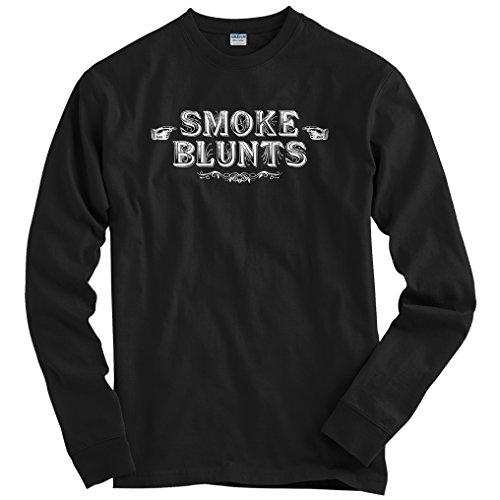 Smash Transit Men's Smoke Blunts Long Sleeve T-Shirt - Black, Large ()