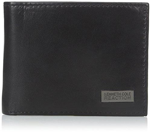 Kenneth Cole Reaction Mens Montrose Traveler Wallet  Black  One Size