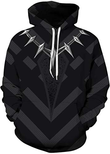 Pandolah Men's Athletic 3D Animal Cosmic Galaxy Printed Hoodies Sweatshirts