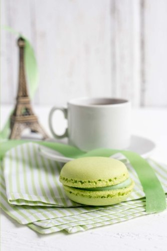 A Nice Cup of Tea and a French Macaron Cookie Journal: 150 Page Lined Notebook/Diary