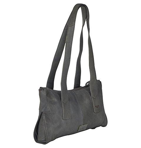Leder hochwertigen 21202 Damen VOi in aus Schwarz Tasche RV XaxFYwR