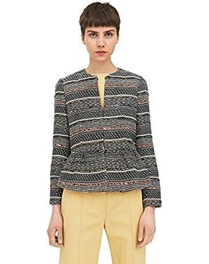 Mango Women's Peplum Textured Jacket