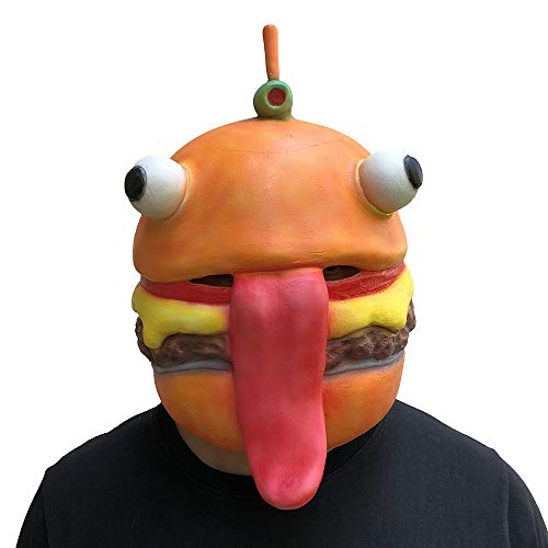 MostaShow Beef Boss Mask Cosplay Durr Burger Masks Adult Latex Full Face Helmet Halloween Party Props -