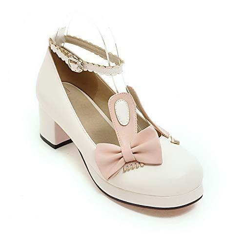 BalaMasa Pumps Colors White Travel Womens Shoes Assorted Bows APL10587 Urethane UqUrA1Hf