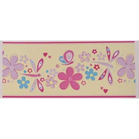 Butterfly Pastel Wallpaper Border Amazoncouk Kitchen Home