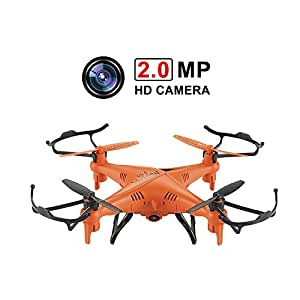 GPTOYS Waterproof Remote Control Quadcopter with 2.0MP HD Camera - Orange