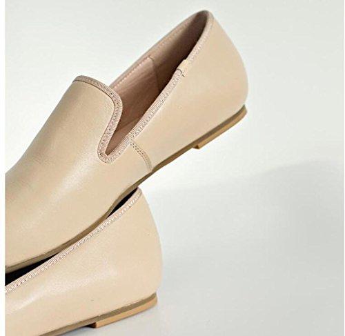 Cabeza de de Bajos ZFNYY Compras Cuadrada Zapatos de Zapatos Tamaño Metal 42 Pequeños Planos tqqXwAv