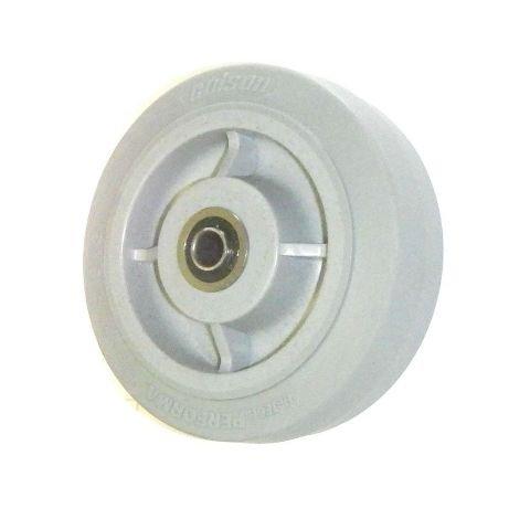 Colson Soft Performa TPE Rubber 6'' x 2'' Wheel 1/2'' ID Precision Ball Bearing