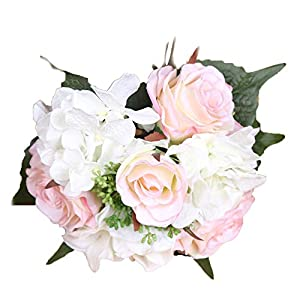 Crt Gucy Artificial Flowers Fake Silk Rose Flower Bouquet Bride Bridesmaid Holding Flowers For Wedding Party Home Decor,Pink 6
