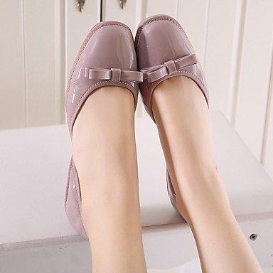 Cómodo y elegante soporte de zapatos de las mujeres pisos primavera/verano/otoño Square Toe/Flats Casual Flat Heel bowknotwalking morado