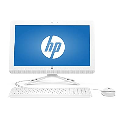 "Flagship HP 20 Snow White 19.5"" HD+ All-in-One Business Desktop - Intel Quad-Core Pentium J3710, 4GB RAM, 500GB HDD 7200rpm, Ultra Slim DVD Burner, WLAN, Bluetooth, HDMI, Webcam, Windows 10"