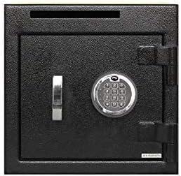 Templeton Small Depository Drop Safe With Electronic Multi-User Keypad Combination Lock with Key Backup, Anti Fishing Security, Black 1.12 CBF