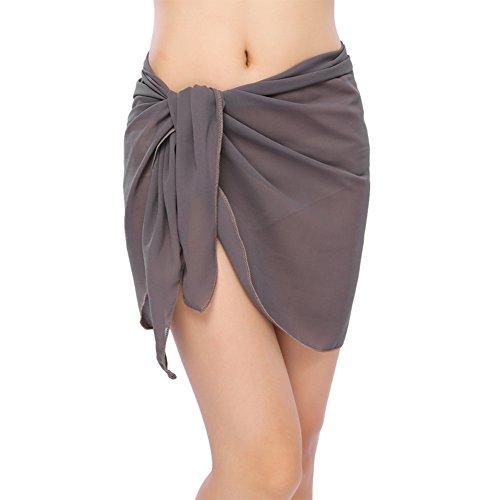 Sarong Grey sexy in copertura da donna in da bikini Involucro con stampato chiffon bagno bikini di aqzwZ1P