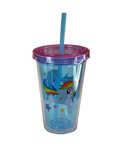 Zak! My Little Pony Rainbow Dash 16.5oz Fun Sip Tumbler with Straw BPA-Free