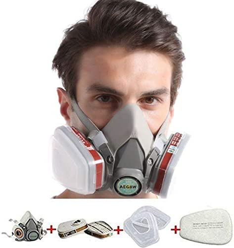 Half Facepiece Reusable Respirator Professional Organic Steam Respirator Widely Used in Paint Spray Chemical Organic Gas Woodworking US Stock