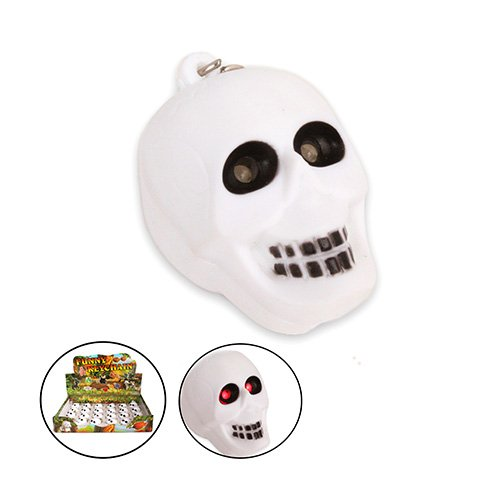 3x Skull LED Key Chain with Sound (pack of 3pcs) by bestgiftonline