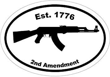amazon co jp ak 47デカール gun est 1776 2 nd amendment ak 47