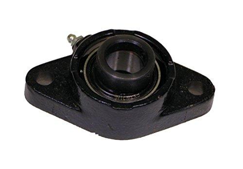 Link-Belt FX3W216E Ball Bearing Flange Unit, 2-Bolt, Intermediate Duty, Eccentric Collar, Non-Expansion, Cast Iron, 1
