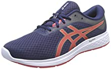 Asics Patriot 11, Road Running Shoe para Hombre - Peacoat/Classic Red - 43.5 EU