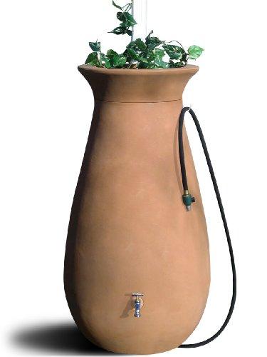 - Algreen Products Cascata Rain Barrel 65-Gallon, Terra Cotta