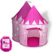 Foxprint Princess Castle Play Tent With Glow In The Dark Stars, Conveniently Folds In To A Carrying Case, Your