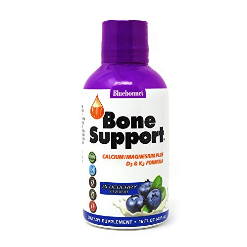 (Bluebonnet Nutrition Liquid Bone Support, Blueberry, 16 Fluid)
