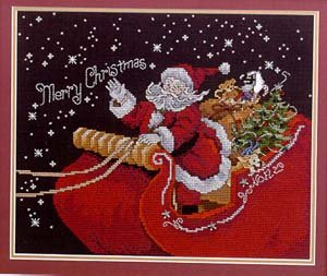 Santa's Sleigh Cross Stitch Chart by Stoney Creek Collection Leaflet 112 Creek Sleigh