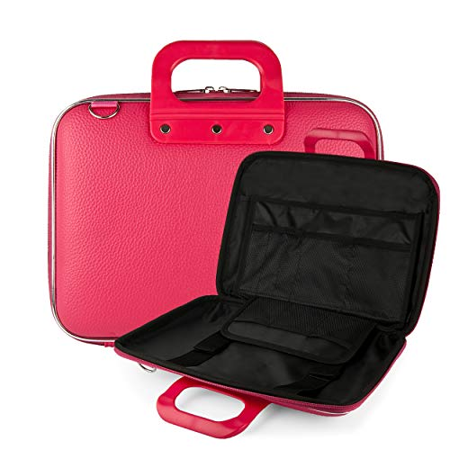 "Vegan Leather Media Carrier [Pink] Detachable Shoulder Strap 9"" to 10.5"" Portable DVD Players -  Best Price Center, AS_NBKLEA544_PRTDVD"