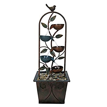 Natures Garden Cascade Cups Metal Fountain