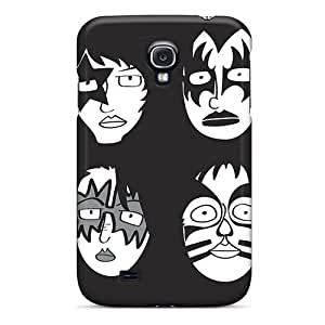 Excellent Cell-phone Hard Covers For Samsung Galaxy S4 (Ptf9333oSlu) Custom Realistic Kiss Band Pattern