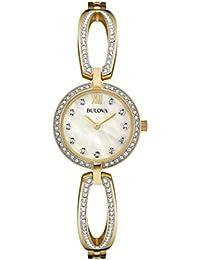 Women's 98L1225 Swarovski Crystal Gold Tone Bracelet Watch