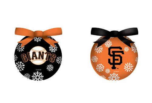 MLB 6 Piece LED Boxed Ornament Set MLB Team: San Francisco Giants